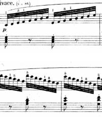 ツェルニー「30番練習曲第8番ハ長調Op.849-8」ピアノ楽譜1