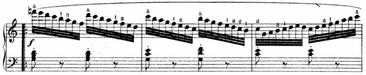 ツェルニー「30番練習曲第8番ハ長調Op.849-8」ピアノ楽譜3
