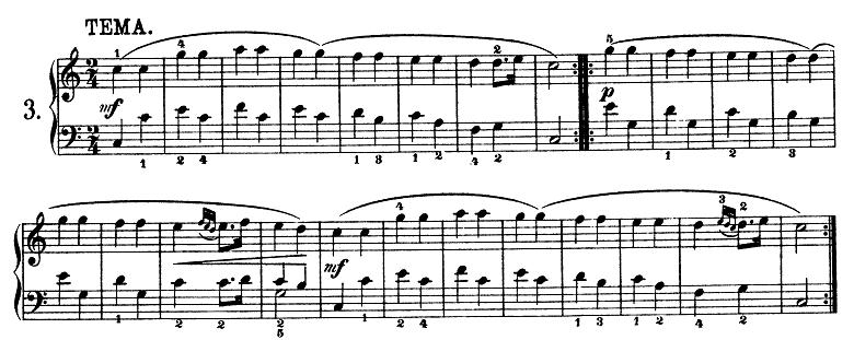 モーツァルト「きらきら星変奏曲」ハ長調K.265 ピアノ楽譜1