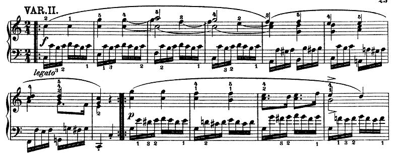 モーツァルト「きらきら星変奏曲」ハ長調K.265 ピアノ楽譜3