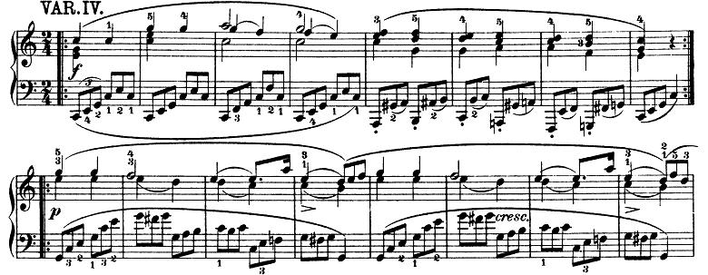 モーツァルト「きらきら星変奏曲」ハ長調K.265 ピアノ楽譜5