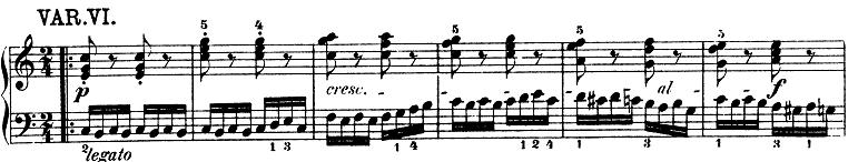 モーツァルト「きらきら星変奏曲」ハ長調K.265 ピアノ楽譜7