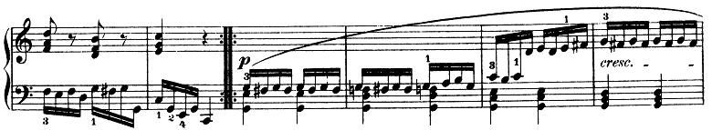 モーツァルト「きらきら星変奏曲」ハ長調K.265 ピアノ楽譜8