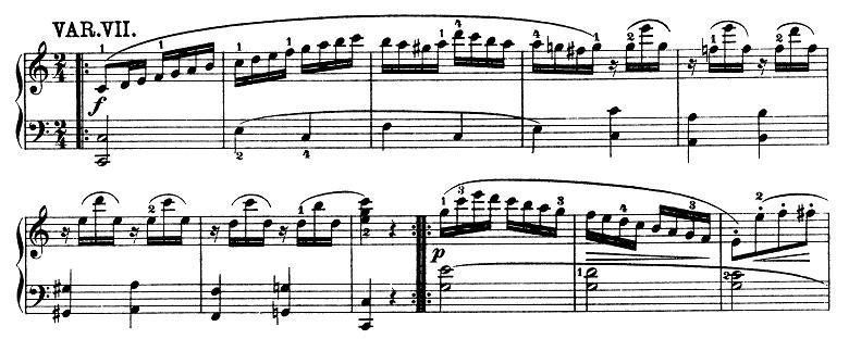 モーツァルト「きらきら星変奏曲」ハ長調K.265 ピアノ楽譜9