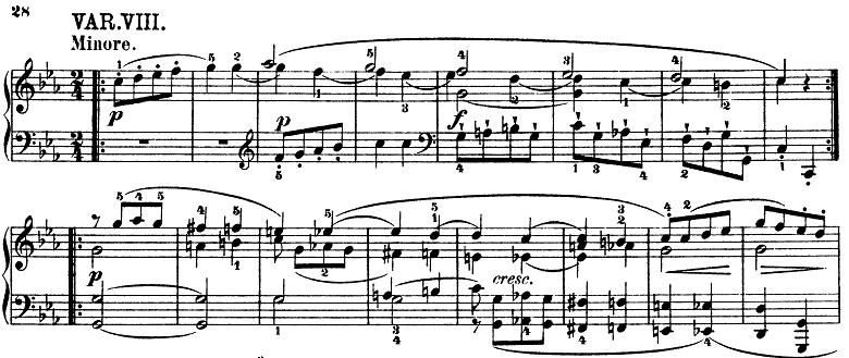 モーツァルト「きらきら星変奏曲」ハ長調K.265 ピアノ楽譜10