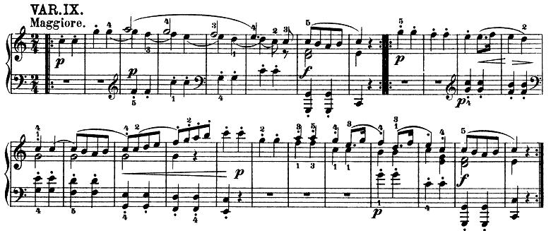 モーツァルト「きらきら星変奏曲」ハ長調K.265 ピアノ楽譜11