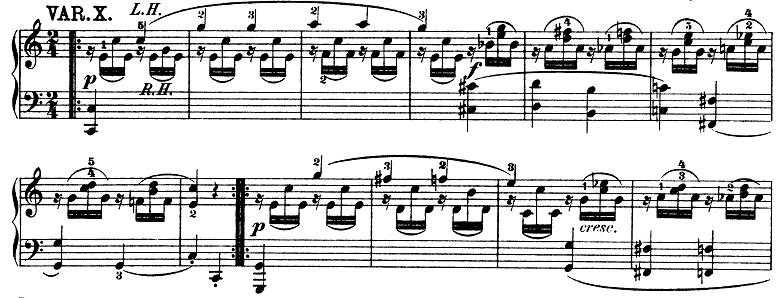 モーツァルト「きらきら星変奏曲」ハ長調K.265 ピアノ楽譜12