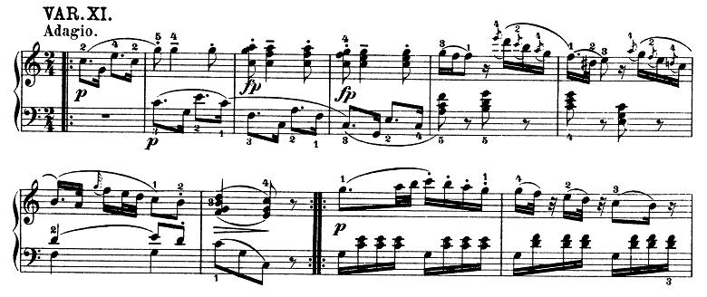 モーツァルト「きらきら星変奏曲」ハ長調K.265 ピアノ楽譜13