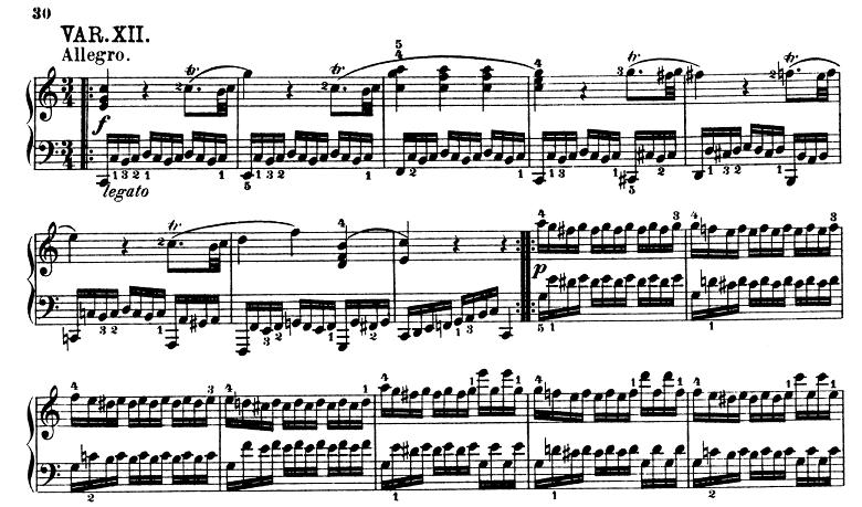 モーツァルト「きらきら星変奏曲」ハ長調K.265 ピアノ楽譜14