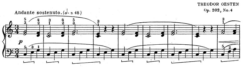 テオドール・エステン「子供の情景」第4曲「人形の夢と目覚め」ハ長調Op.202-4 ピアノ楽譜1