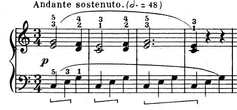 テオドール・エステン「子供の情景」第4曲「人形の夢と目覚め」ハ長調Op.202-4 ピアノ楽譜2