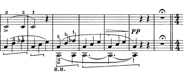 テオドール・エステン「子供の情景」第4曲「人形の夢と目覚め」ハ長調Op.202-4 ピアノ楽譜3