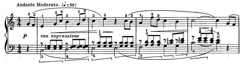 テオドール・エステン「子供の情景」第4曲「人形の夢と目覚め」ハ長調Op.202-4 ピアノ楽譜4