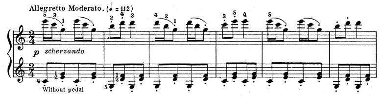 テオドール・エステン「子供の情景」第4曲「人形の夢と目覚め」ハ長調Op.202-4 ピアノ楽譜8