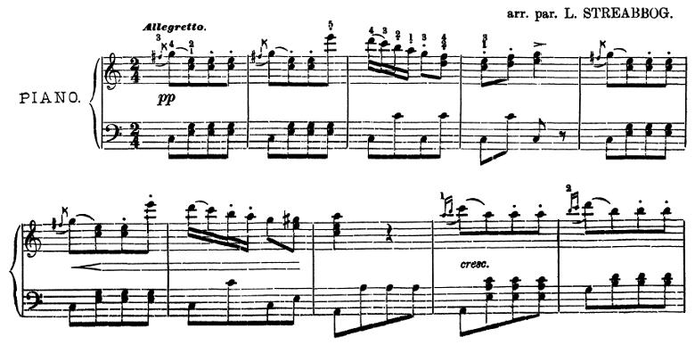 ベートーヴェン「トルコ行進曲」ピアノ楽譜1
