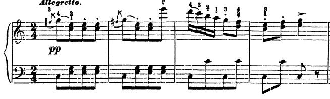 ベートーヴェン「トルコ行進曲」ピアノ楽譜4
