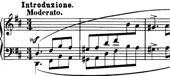 シューマン「「パピヨン(蝶々)」Op.2」ピアノ楽譜1