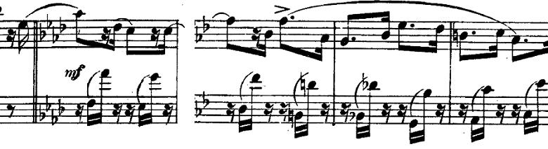 シューマン「「パピヨン(蝶々)」Op.2」ピアノ楽譜3