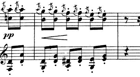 シューマン「「パピヨン(蝶々)」Op.2」ピアノ楽譜8