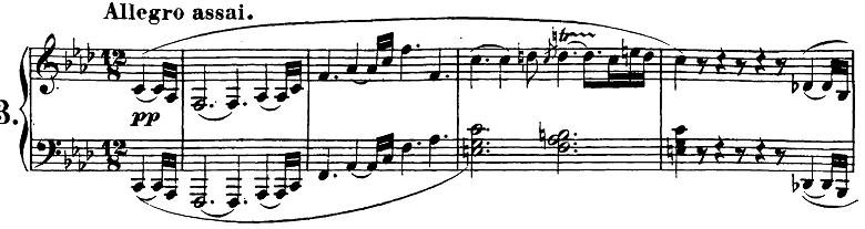 ベートーヴェン「ピアノソナタ第23番「熱情」ヘ短調Op.57第1楽章」ピアノ楽譜1