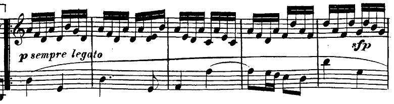 ベートーヴェン「ピアノソナタ第23番「熱情」ヘ短調Op.57第2楽章」ピアノ楽譜2