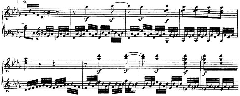 ベートーヴェン「ピアノソナタ第23番「熱情」ヘ短調Op.57第2楽章」ピアノ楽譜3