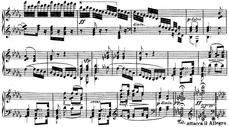 ベートーヴェン「ピアノソナタ第23番「熱情」ヘ短調Op.57第2楽章」ピアノ楽譜4