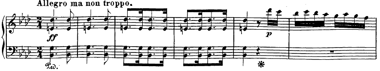 ベートーヴェン「ピアノソナタ第23番「熱情」ヘ短調Op.57第3楽章」ピアノ楽譜1