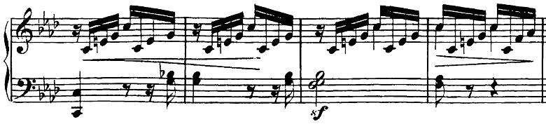 第 三 楽章 楽譜 月光