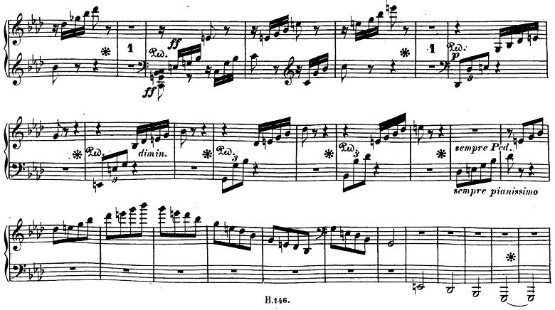 ベートーヴェン「ピアノソナタ第23番「熱情」ヘ短調Op.57第3楽章」ピアノ楽譜8