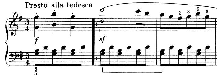ベートーヴェン「ピアノソナタ第25番ト長調作品79第1楽章」ピアノ楽譜1