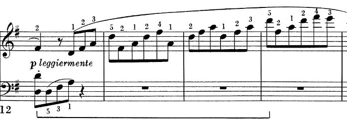 ベートーヴェン「ピアノソナタ第25番ト長調作品79第1楽章」ピアノ楽譜2