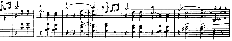 シベリウス「5つの小品(樹木の組曲)第5曲「樅の木(もみの木)」ロ短調Op.75-5」ピアノ楽譜2