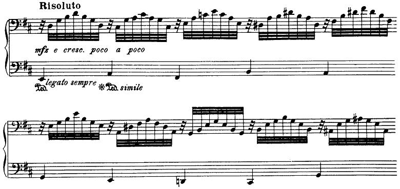 シベリウス「5つの小品(樹木の組曲)第5曲「樅の木(もみの木)」ロ短調Op.75-5」ピアノ楽譜3