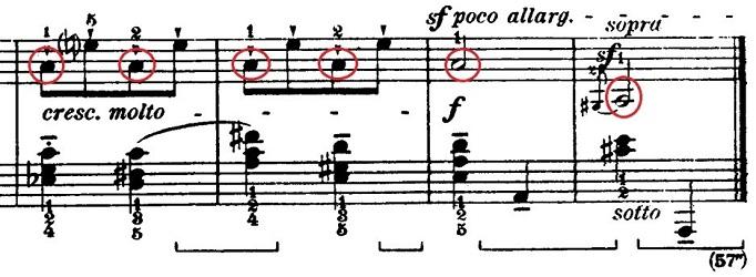 バルトーク「ルーマニア民族舞曲第1曲「棒踊り」イ調」ピアノ楽譜2