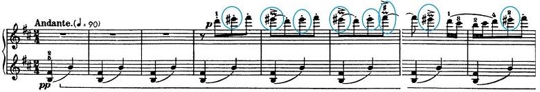 バルトーク「ルーマニア民族舞曲第3曲「踏み踊り」ロ調」ピアノ楽譜