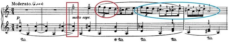 バルトーク「ルーマニア民族舞曲第4曲「角笛の踊り」イ調」ピアノ楽譜1