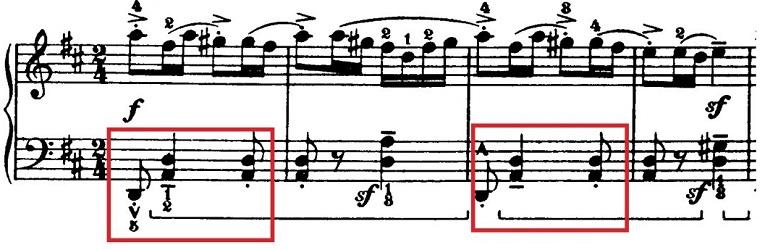 バルトーク「ルーマニア民族舞曲第6曲「速い踊り」イ調」ピアノ楽譜1