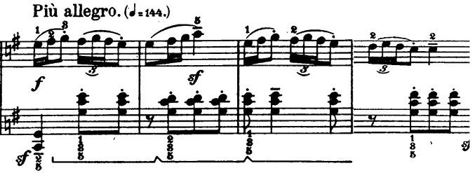 バルトーク「ルーマニア民族舞曲第6曲「速い踊り」イ調」ピアノ楽譜2