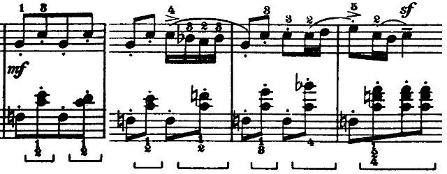 バルトーク「ルーマニア民族舞曲第6曲「速い踊り」イ調」ピアノ楽譜3