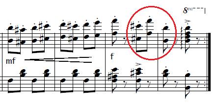 ネッケ「「クシコス・ポスト」ホ短調」ピアノ楽譜1