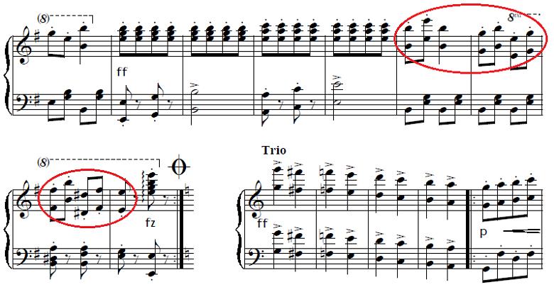 ネッケ「「クシコス・ポスト」ホ短調」ピアノ楽譜2