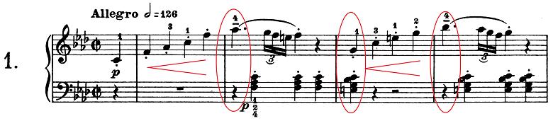 ベートーヴェン「ピアノソナタ第1番ヘ短調Op.2-1第1楽章」楽譜1