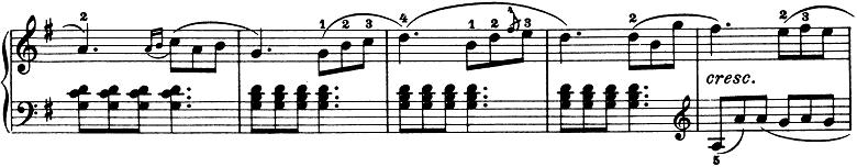 ブルグミュラー「25の練習曲第3番「パストラル(牧歌)」ト長調」ピアノ楽譜2