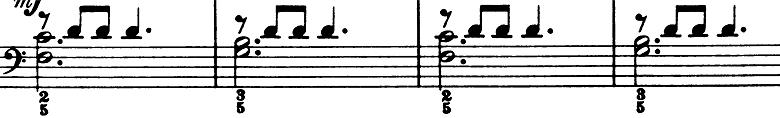 ブルグミュラー「25の練習曲第3番「パストラル(牧歌)」ト長調」ピアノ楽譜3
