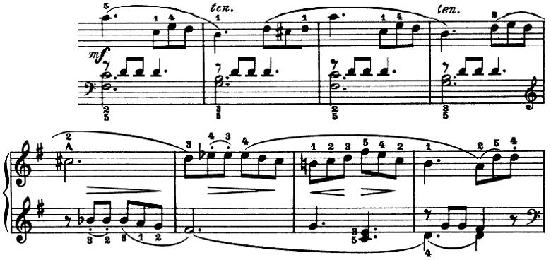 ブルグミュラー「25の練習曲第3番「パストラル(牧歌)」ト長調」ピアノ楽譜4