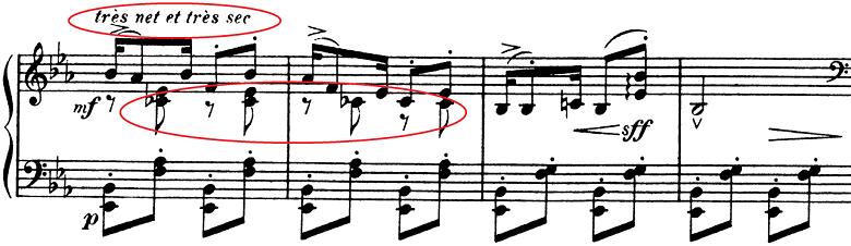 ドビュッシー「子供の領分第6曲「ゴリウォーグのケークウォーク」変ホ長調L.113-6」ピアノ楽譜3