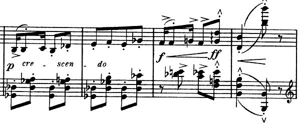 ドビュッシー「子供の領分第6曲「ゴリウォーグのケークウォーク」変ホ長調L.113-6」ピアノ楽譜4