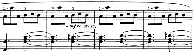 ピエツォンカ「社交ダンス第1曲「タランテラ」イ短調」ピアノ楽譜1