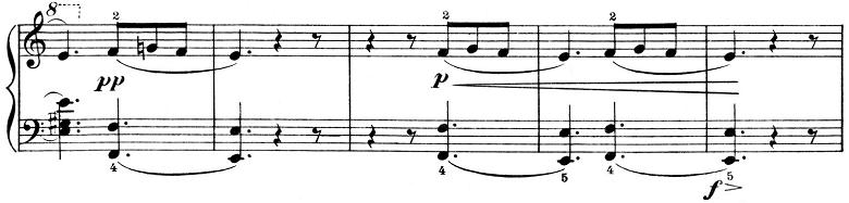 ピエツォンカ「社交ダンス第1曲「タランテラ」イ短調」ピアノ楽譜2